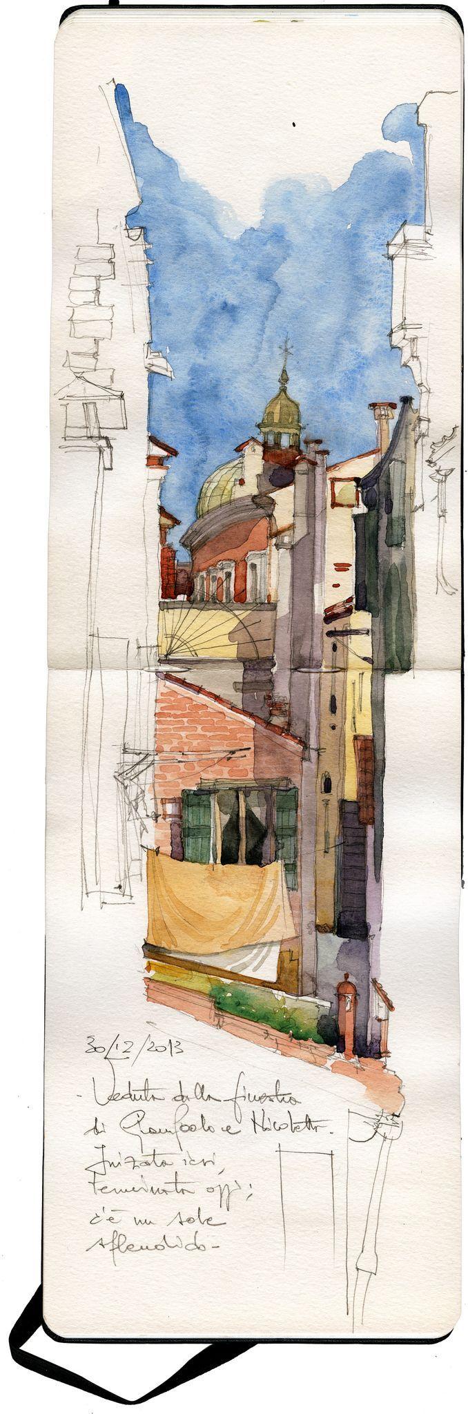 Quand l'artiste capture sur le vif l'émotion. / Croquis de carnet de voyage. / Travel sketching.