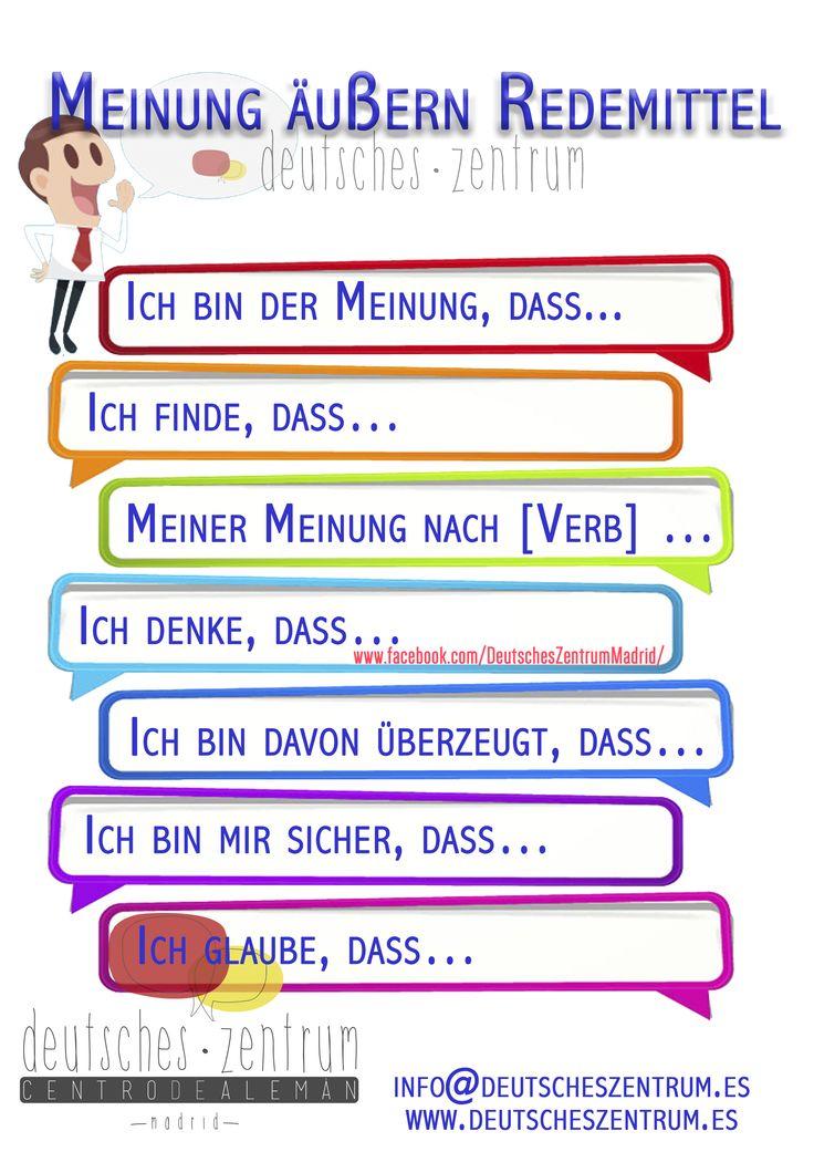 Redemittel Deutsch Wortschatz Grammatik German Alemán DAF