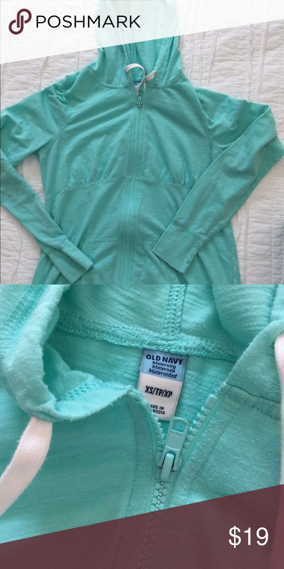 Light real maternity zip up light hoodie Like new condition, no tears or stains. Smoke free, pet free home. Old Navy Tops Sweatshirts & Hoodies