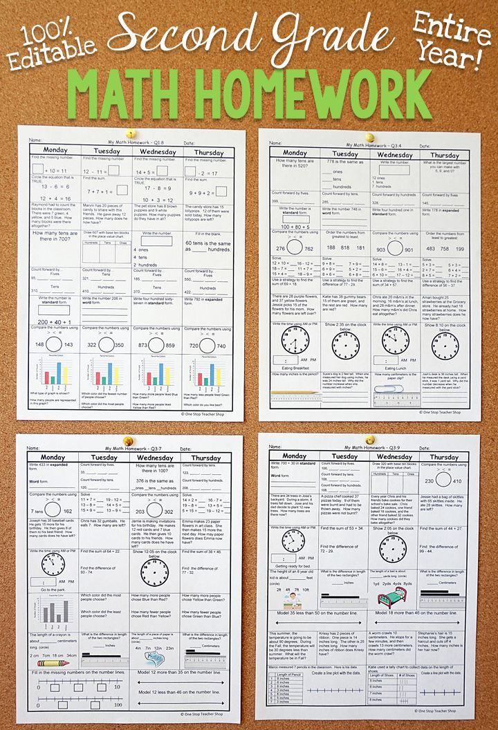 2nd Grade Math Spiral Review   2nd Grade Math Homework   Distance Learning   Spiral math. 2nd grade math. Second grade math
