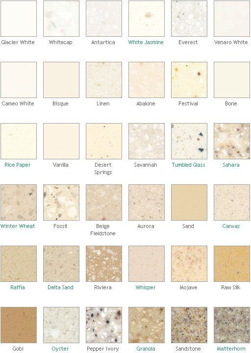 Dupont corian countertop colors surface materials in for Corian countertop price