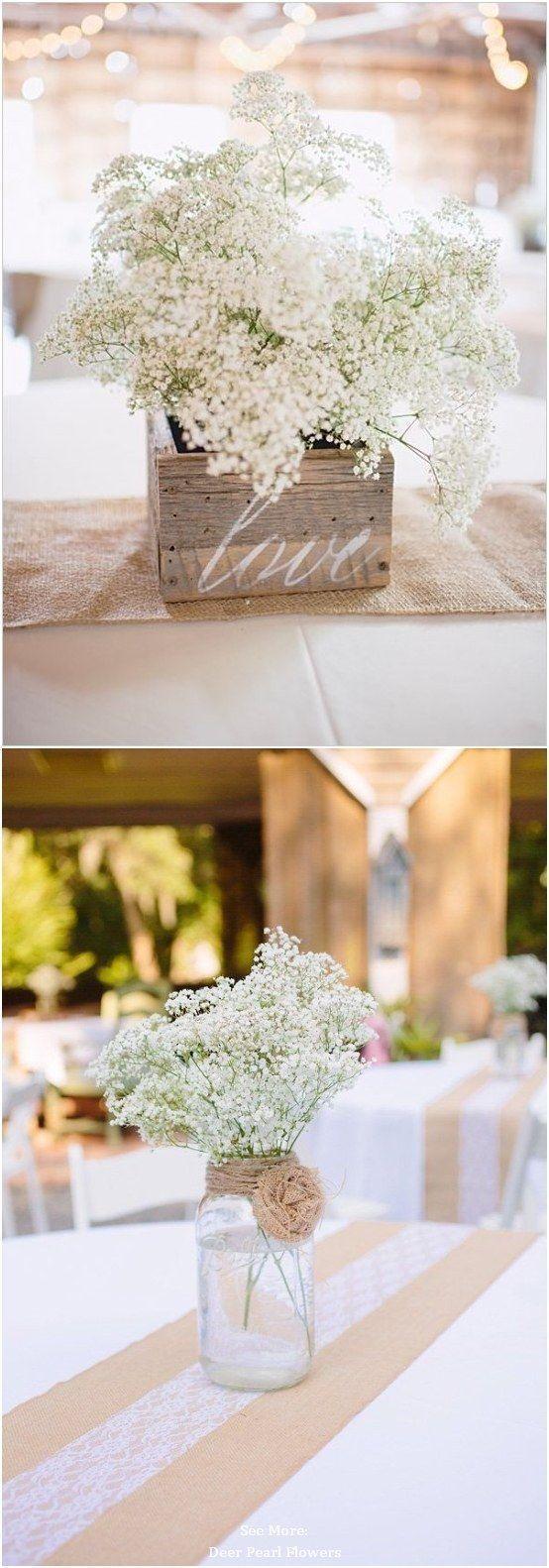 68 Baby's Breath Wedding Ideas for Rustic Weddings / www.deerpearlflow…