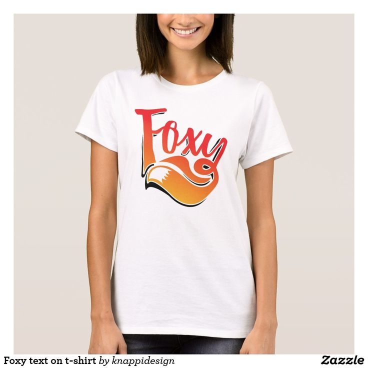 Popping up Foxy text on t-shirt.   #foxy #illustration #foxygirl #foxylady #sexy #graphic #textillustration #foxtail #tail #fox #tshirt #foxshirt #foxyshirt #poppingup #popup #shadowed