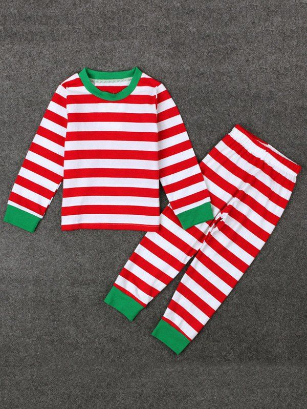 Kids Stripe Christmas Pajamas Set #CLICK! #clothing, #shoes, #jewelry, #women, #men, #hats