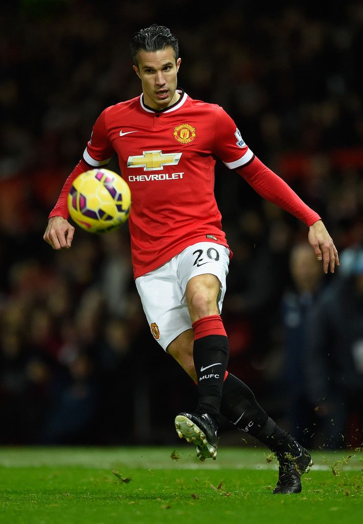 Robin van Persie of Manchester United in action during the Barclays Premier League match between Manchester United and Stoke City at Old Trafford on December 2, 2014 in Manchester, England.