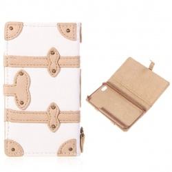 Stylish Built-in ID, Credit Cards Pocket Leather Case Cover for iPhone 4/4S