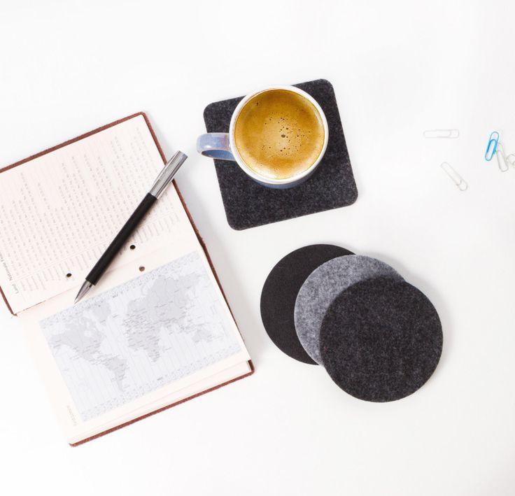 2er Set FILZ Untersetzer Tassenuntersetzer 4mm Dick grau, schwarz 10 - 15 - 20cm | eBay