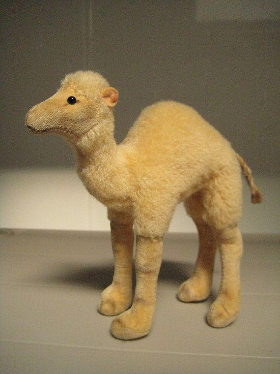 In my ETSY Shop: Steiff Vintage Dromedary Camel ~ Wool Plush and Velvet ~ 1953 to 1969