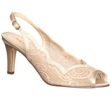For The Bridesmaids!  ORLA: Supersoft - Delicate lace peep toe slingback with scalloped edge on a 75mm heel. Spare top piece is provided