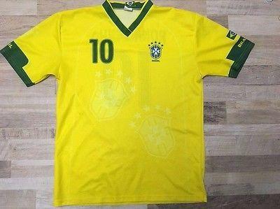BRAZIL National Team Bright Yellow RONALDINHO SOCCER JERSEY Shirt Size Men XL | eBay