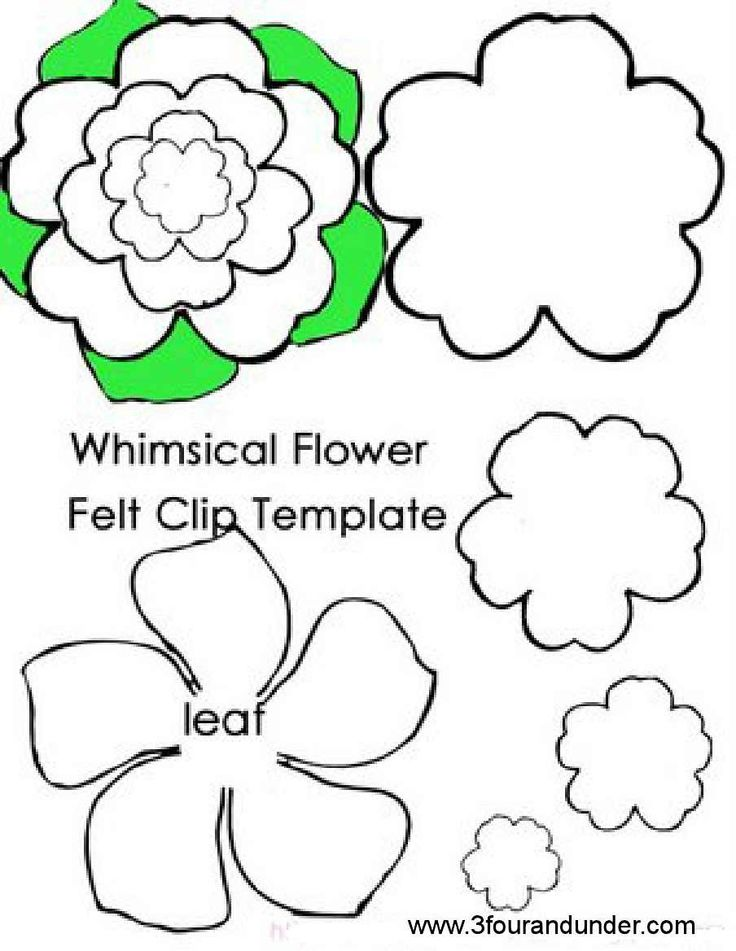 This is an image of Superb Felt Flower Template Printable