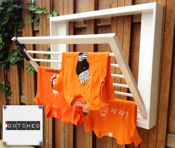 Traphekje omgetoverd tot wasrek. Neemt weinig plaats in doordat je rekje kan dichtklappen. #Dutched