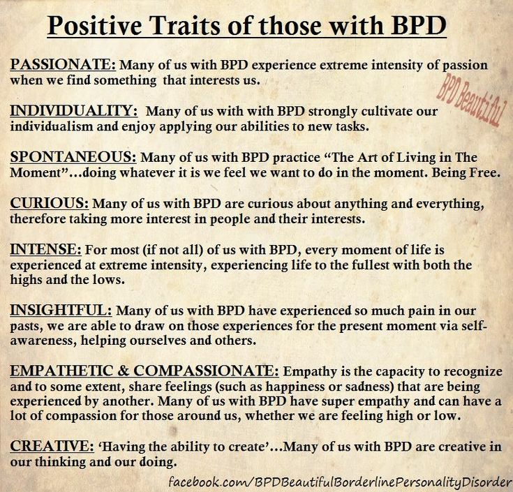 Borderline positive traits.  Love to see this side