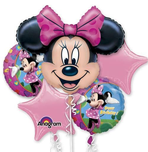 Minnie Mouse is here to celebrate your birthday with this lovely pink Mylar…