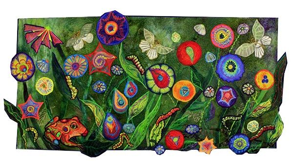 'Butterfly Garden' by Ellen Anne Eddy, the author of Thread Magic Garden  C