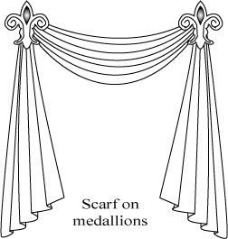 How to Hang a Curtain Scarf