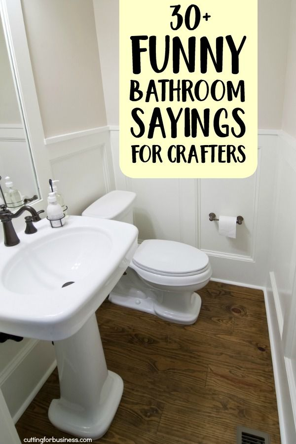 30 Funny Bathroom Sayings For Crafters Painting