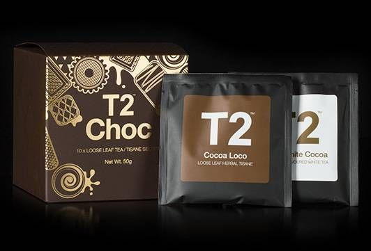 T2 Chocolate Selfies  CONTAINS- Caramel Brownie, Choc Chip Chai, Chocolate, Cocoa Loco, Creme Brulee, Lamington, Terrific Toffee, Jade Mountain.