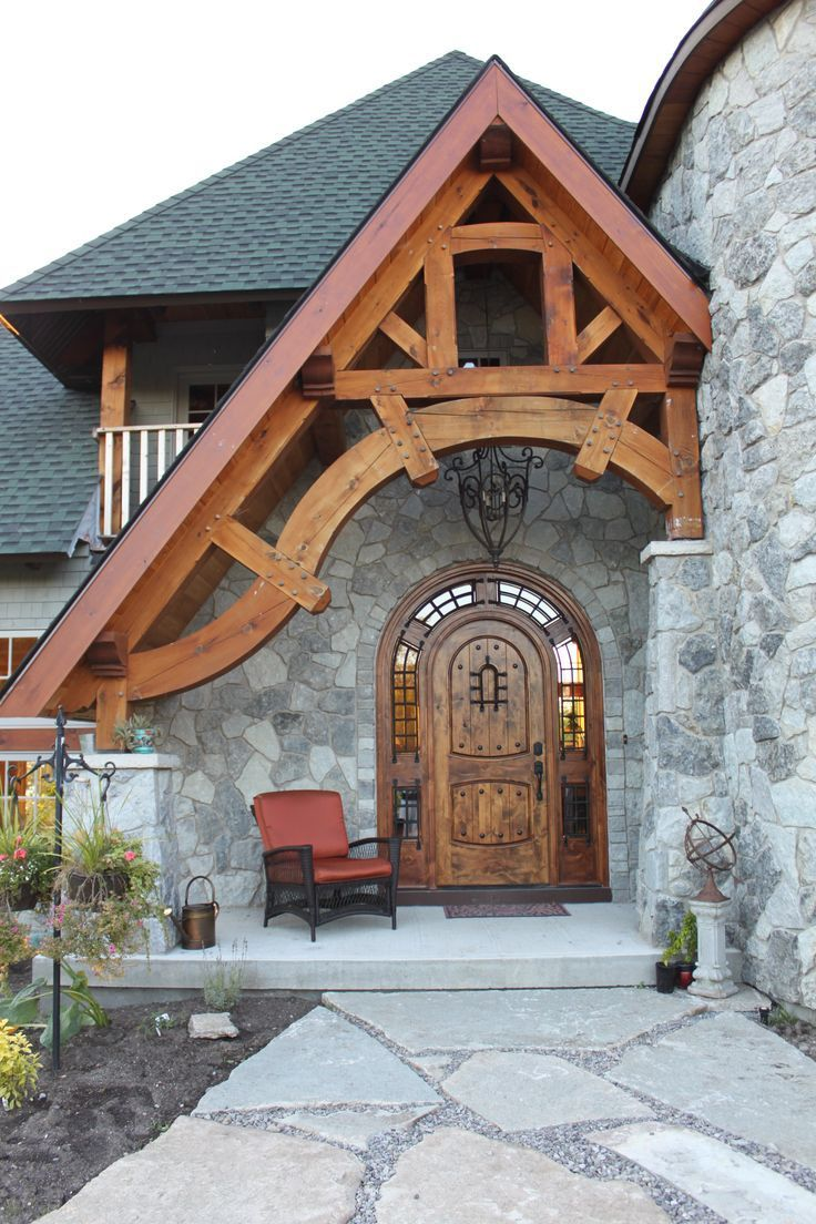 GORGEOUS Timber frame entrance Like and Repin. Thx Noelito Flow. www.instagram.com...