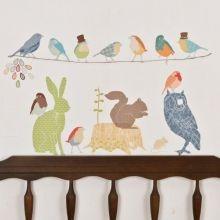 Αυτοκόλλητο τοίχου 'Ζωάκια και πουλάκια για αγόρια'