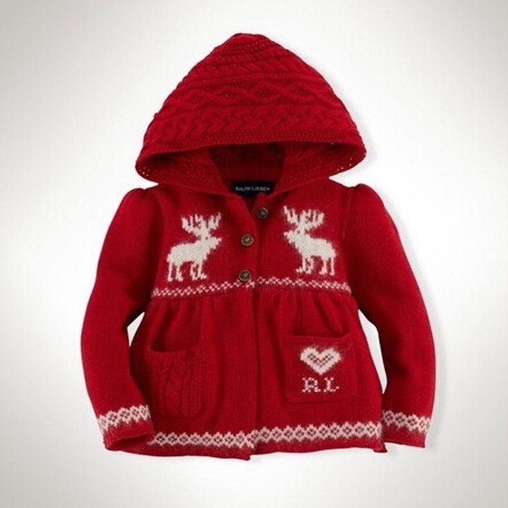 filles pull en tricot robe enfants de noel wapitis volants With robe bébé fille hiver