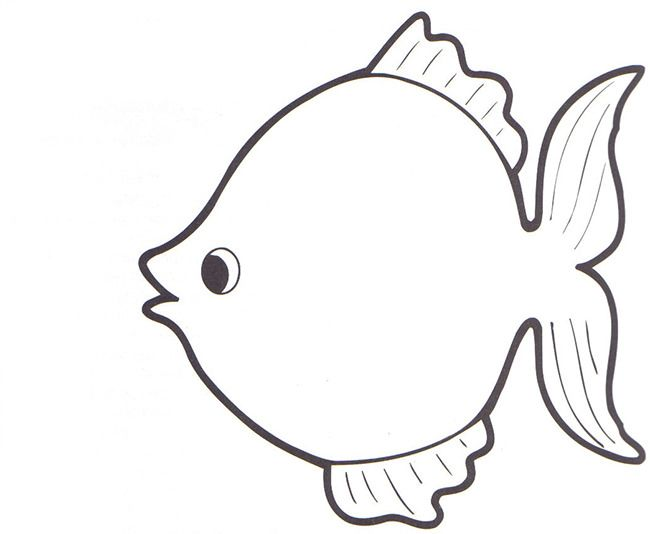 25 best ideas about rainbow fish template on pinterest for Fish shape template