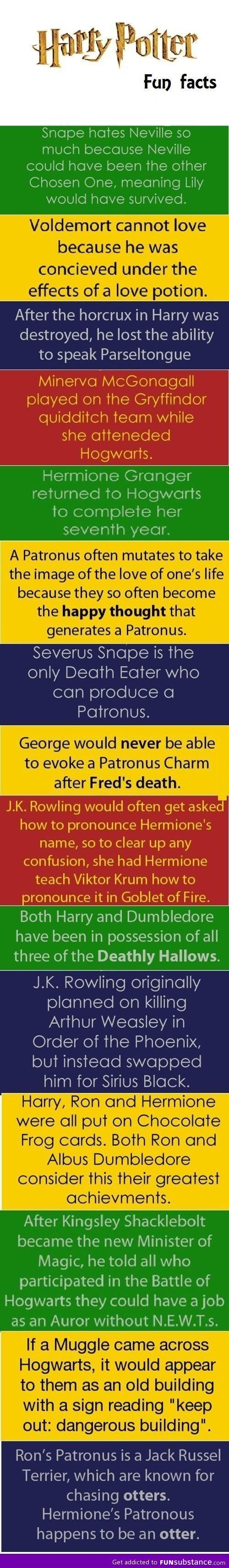Harry Potter Fun Facts- True or not, insight on things left untold are always fascinating!