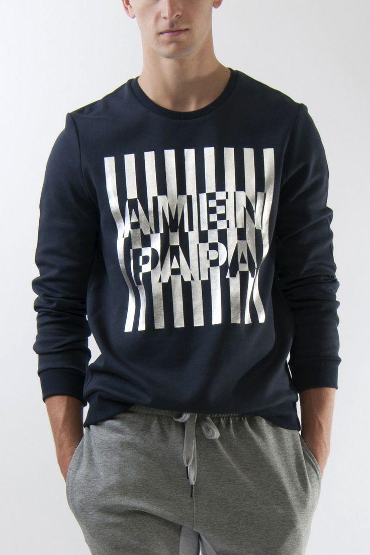 Amenpapa foil stripe sweatshirt - Hoodies & Sweatshirts - Men