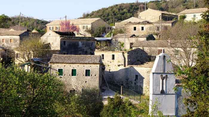 Corfu's Oldest Village | Old Perithia - There are several tavernas up here waiting to serve you a lovely traditional meal or drive up to the top for spectacular views and a coffee