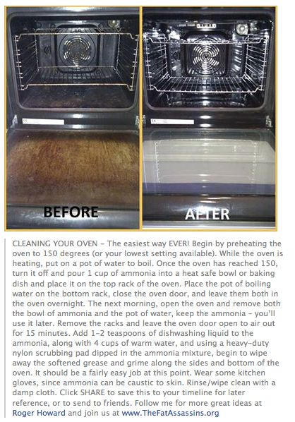 BEST WAY TO CLEAN OVEN