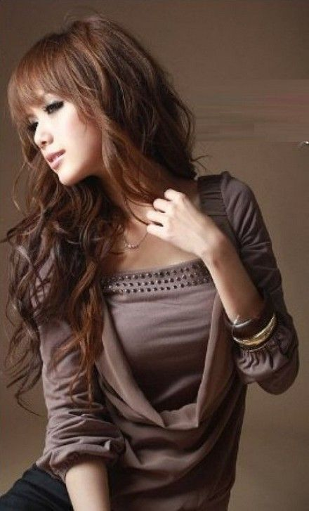 Korean fashion dress products for curly hair
