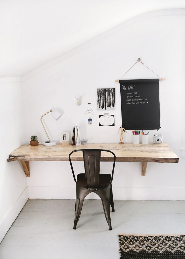 diy live edge wood desk workspace home office furniture wood rh pinterest com