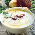 Romige champignonsoep met eekhoorntjesbrood - recept - okoko recepten