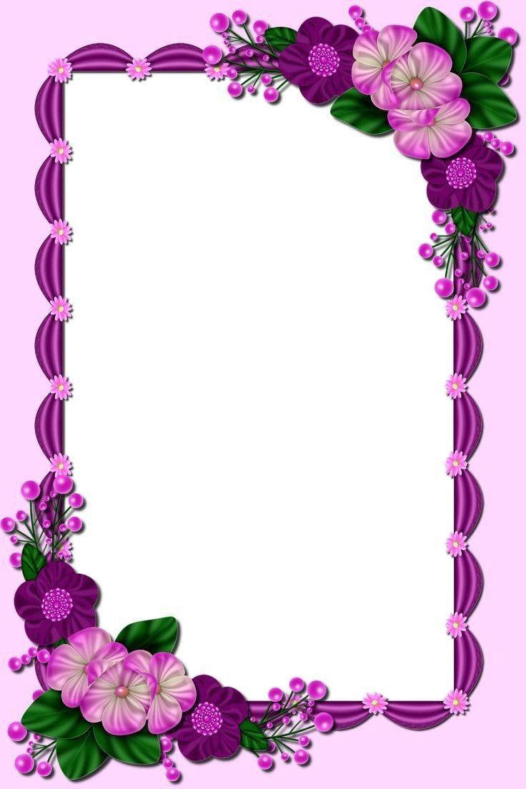Enter Text Flower Background Design Pink Background Images Floral Border Design