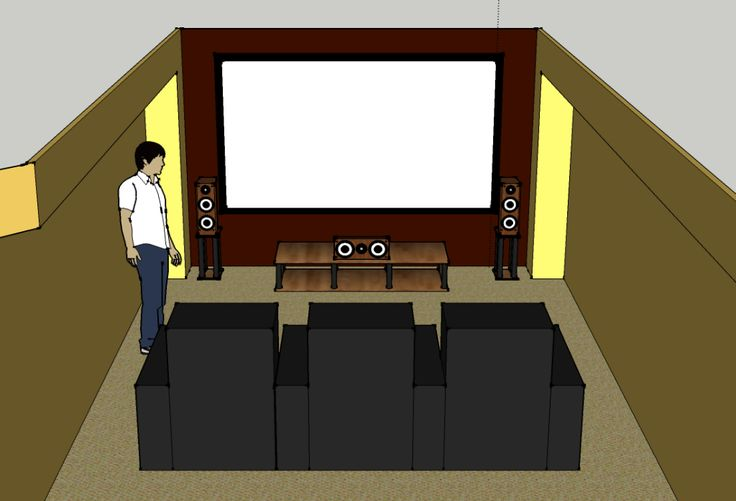 small room conversion to home theater | also came up with a new front rack design that is just one shelf ...