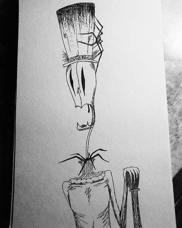 """D.Art (@d.art._) 💀👁#skull #sketch #drawing  #skull #skeleton #skeletonking #blackandwhite #sketchbook #spider #art"""""""