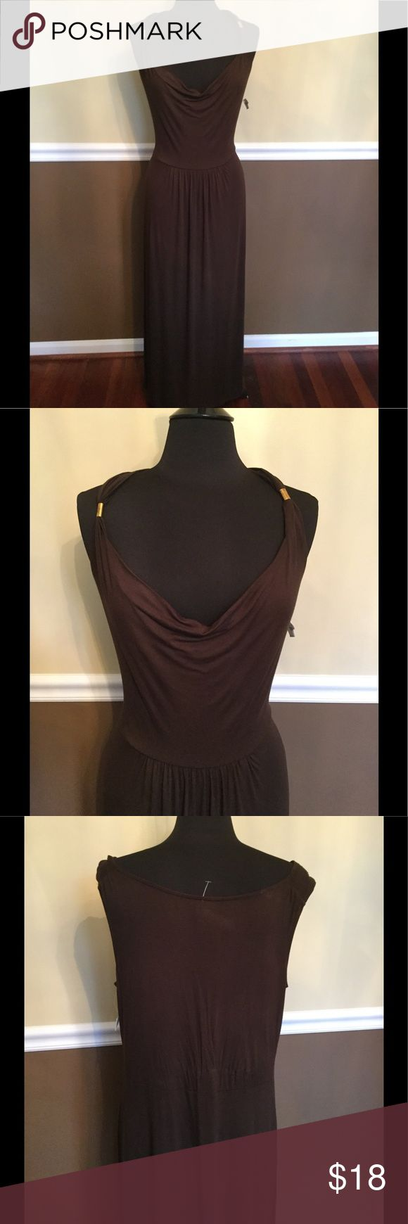 ANA A New Approach Chocolate Brown Maxi Sundress ANA A New Approach NWT Chocolate Brown Maxi Sundress Extra Large ANA Dresses Maxi