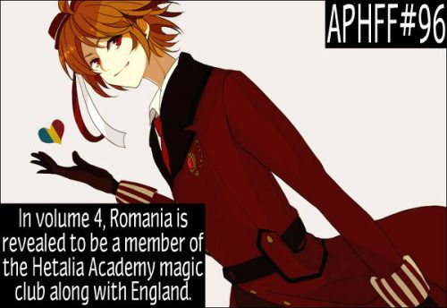 APHFF#96: In volume 4, Romania is revealed to be a member of the Hetalia Academy magic club along with England. A Romania fact, requested by an Anon Picture: Source