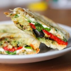 Eggplant Mozzarella Panini by totalnoms