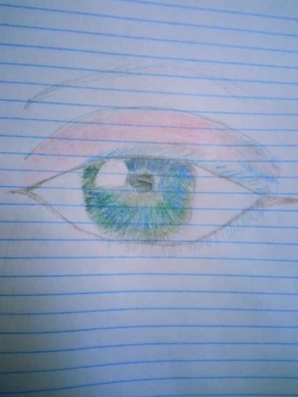 Drawing of an eye by Sinéad