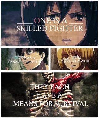 Shingeki no Kyojin is the anime I'm watching right now. It's a bit strange at times, but still quality.