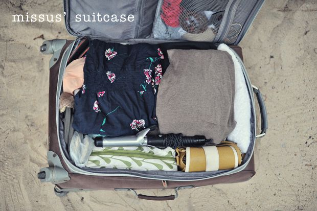 how to pack everything in one suitcase