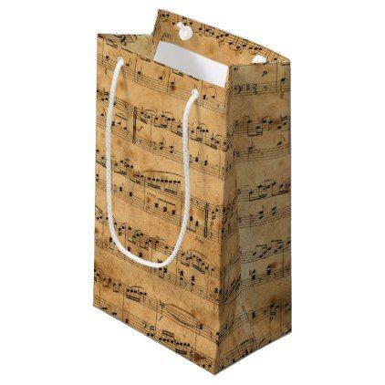 #classy - #Vintage Rustic Sheet Music Gift Bag