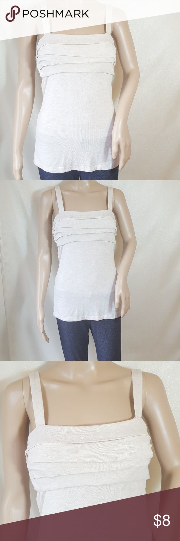 🆕️BCBG Khaki Cami🆕️ This is a BCBGeneration cami with adjustable straps. It has an uneven,  layered design on the bust and hits just below the waist. BCBGeneration Tops