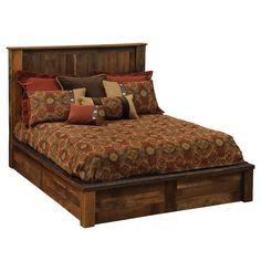 Barnwood Traditional Platform Bed