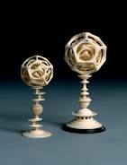 Two polyhedrons   Egidius Lobenigk  1581-1584  Priceless Antiques clearly stating trends even today. Futuristic, monochromatic with slight tension. Detail & opulence in a sedated tone...breathtaking