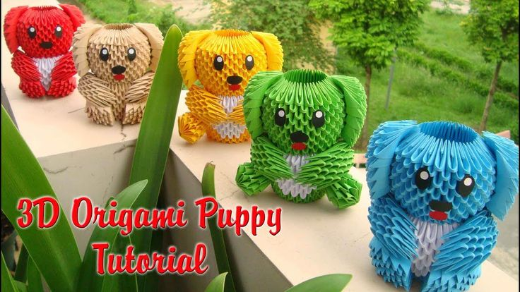 how to make an origami puppy