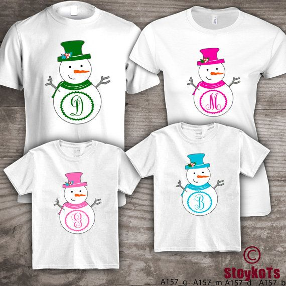 Christmas shirts for family personalized Mom Dad, kids set ...