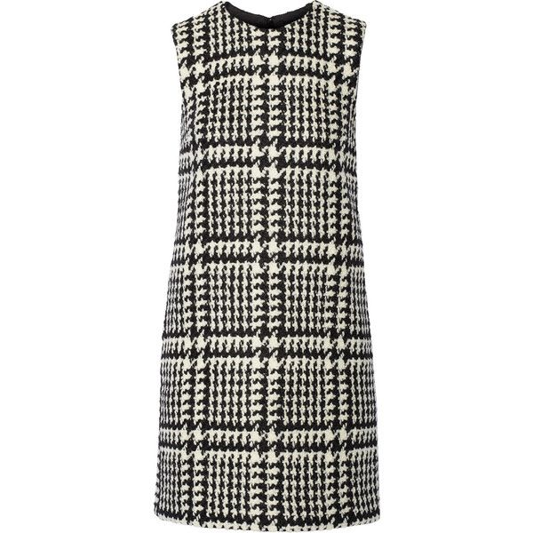 Jill Stuart Shanna wool-blend bouclé-tweed mini dress (16,870 INR) ❤ liked on Polyvore featuring dresses, black, tweed dress, black dress, short dresses, mini dress and black tweed dress