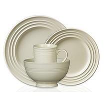 Colorsplash 16 pc. Stanza Stoneware Dinnerware Set - Cream
